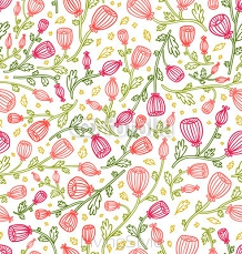 Little pink daisies seamless pattern 122013253