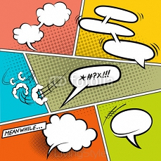 Retro Comic Speech Bubbles 53446138