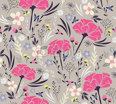 Seamless floral pattern. Background with flowers and leafs. 63019026