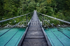 Bridge over Soca river in Triglav National Park, Slovenia 97212037