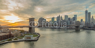 New York City Brooklyn Bridge Manhattan skyline 80283829