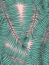 Seamless pattern with palm leaves in sketch style 101564719