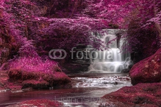 Beautiful alternate colored surreal waterfall landscape 101321624