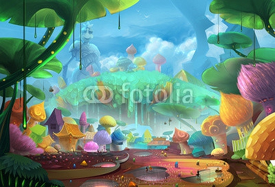 Illustration: Comes to the Ant Planet - Scene Design - Fantastic Style 94626260
