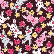 Seamless kawaii child pattern with cute doodles. 47917772